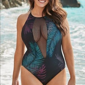 Swimsuits for all Venice mesh high neck one piece